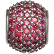 Nomades Sterling Silver Petite Pave Red Charm Spacer