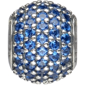 Nomades Sterling Silver Petite Blue Pave Gem Charm Spacer