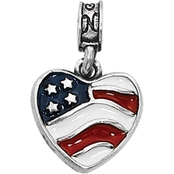 Nomades Sterling Silver Heart of America Charm