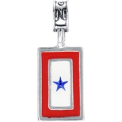 Nomades Blue Star Flags Charm Silver