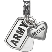 Nomades Sterling Silver Army Dog Tag with Mom Charm