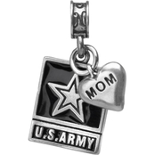 Nomades Sterling Silver Army Emblem with Mom Charm