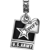 Nomades Sterling Silver Army Emblem with Wife Charm
