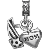 Nomades Sterling Silver Air Force Emblem with Mom Charm