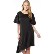 Robbie Bee A-Line Dress with Asymmetrical Hem