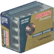 Federal Hydra-Shok .357 Mag 130 Gr. Jacketed Hollow Point Low Recoil, 20 Rounds