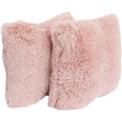 Thro Chubby Faux Fur Pillows 20x20 In. Set of Two