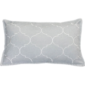 Thro Ava Whipstitch Embroidered Pillow