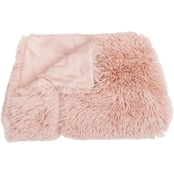 Thro Chubby Faux Fur Decorative Throw with Micromink Back