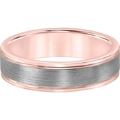 Two Tone Silver Band 6mm