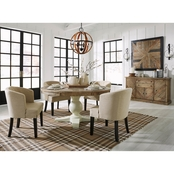 Signature Design by Ashley Grindleburg 5 pc. Round Dining Set with 4 Armchairs