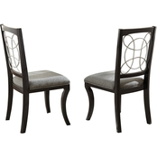 Steve Silver Cayman Metal Scroll Back Chair 2 pk.