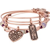Alex and Ani Love Set of 3 Charm Bracelet