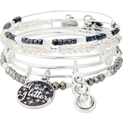 Alex and Ani All That Glitters Set of 5 Charm Bracelet