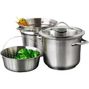 Calphalon Contemporary Stainless 8 qt. Multi Pot Stockpot Set