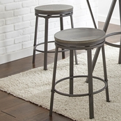 Steve Silver Portland Counter Height Round Stool 2 pk