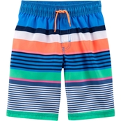 OshKosh B'gosh Little Boys Striped Swim Trunks