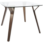 LumiSource Folia Glass Top Dinette Table