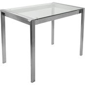 LumiSource Fuji Glass Top Counter Table