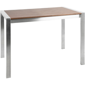 LumiSource Fuji Wood Top Counter Table
