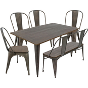 LumiSource Oregon 6 pc. Dining Set