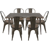 LumiSource Oregon 7 pc. Dining Set