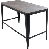 LumiSource Pia Wood Top Desk