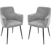 LumiSource Andrew Fabric Upholstered Dining Chair 2 pk.
