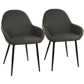 LumiSource Clubhouse Dining Chair 2 pk.