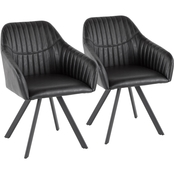 LumiSource Clubhouse Pleated Chair 2 pk.