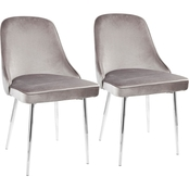 LumiSource Marcel Dining Chair Set of 2