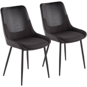 LumiSource Wayne Two-Tone Chair 2 pk.