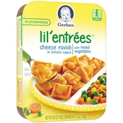 Gerber Lil' Entrees 6.6 oz. Cheese Ravioli in Tomato Sauce with Mixed Vegetables