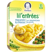 Gerber Lil' Entrees 6.6 oz. Macaroni and Cheese with Peas and Carrots