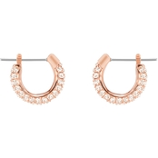 Swarovski Pave Crystal Small Hoop Earrings