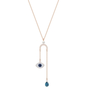 Swarovski Rose Gold Plated Duo Evil Eye Y Necklace
