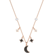 Swarovski Rose Gold plated Duo Black Moon Necklace