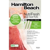 Hamilton Beach NutriFresh 11 in. x 16 ft. Heat-Seal Rolls, 3 ct.