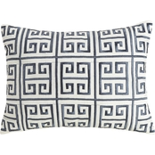 Ayesha Curry Greek Key Embroidered Decorative Pillow