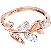Swarovski Goldtone Mayfly Ring White Size 7