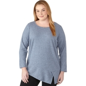 AGB Plus Size Cozy Ribbed Top