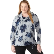 AGB Plus Size Printed Top