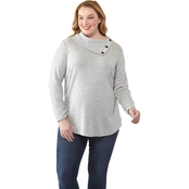 AGB Plus Size Fuzzy Knit Top