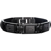 INOX Stainless Steel Black Carbon Fiber Bracelet