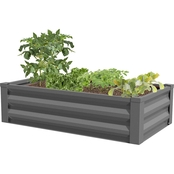 Greenes Fence Co. 48 x 24 x 10 in. Powder-Coated Metal Raised Garden Bed Planter