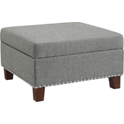 Dorel Living Montana Storage Ottoman with Nailheads