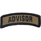 Army Tab with Hook Advisor Security Forces Subdued Velcro (OCP)