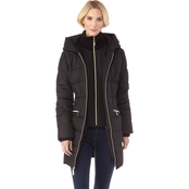 Kensie Women's Faux Down Jacket with Oversized Hood