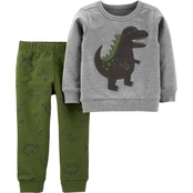 Carter'€™s Toddler Boys Dinosaur Pullover Top and Jogger Pants 2 pc. Set
