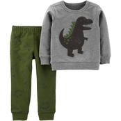 Carter's Infant Boys Dinosaur Pullover Top and Jogger Pants 2 pc. Set